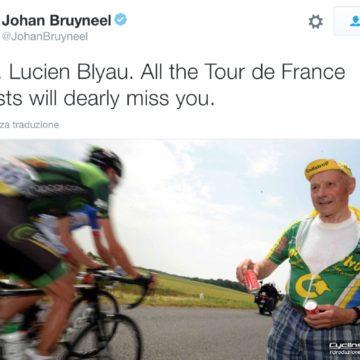 Il Tour de France perde l'amico Lucien Blyau, il rifornimento più amato dai corridori